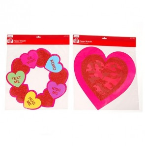 FLOMO Valentine's Day Camouflage and Conversation Hearts Candy Glitter Cutouts