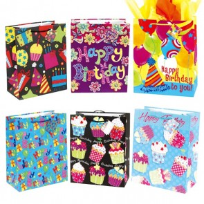 Large Party Time Birthday Gift Bags