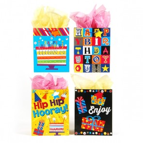 "FLOMO Large ""Hip Hip Hooray"" Birthday Gift Bags"