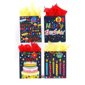 "FLOMO Large ""Denim Birthday"" Gift Bags"