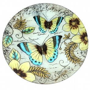 "18"" Great Blue Butterfly Decorative Plate/Birdbath"