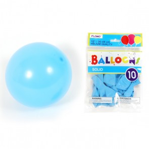 Solid Color Pastel Blue Balloons