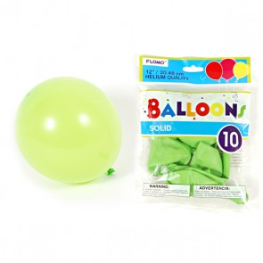 Solid Color Lime Green Balloons
