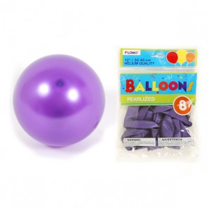 Pearlized Hot Purple Balloons