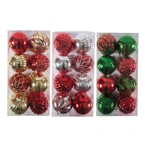 Reflective Glitter Gem Christmas Ornament Set by Holiday Essentials