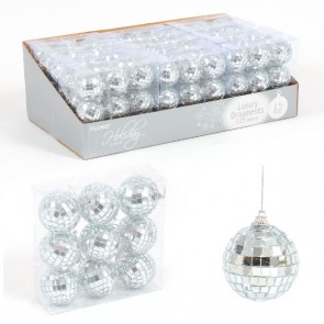 Mirror Ball Ornaments - 9ct