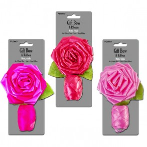 Rose Bow with Egg Ribbon - Assorted