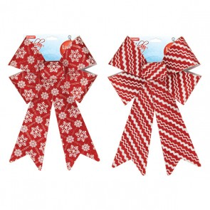 Red/White Glitter Bows