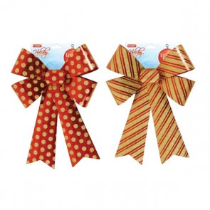 Red and Gold Glitter Bows