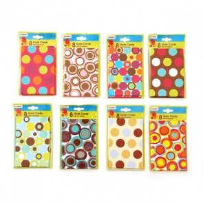 Polka Dot Note Cards With Envelopes