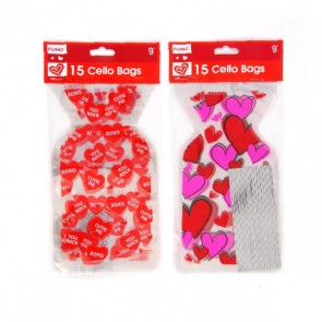 FLOMO Valentine's Day Die Cut Treat Bags
