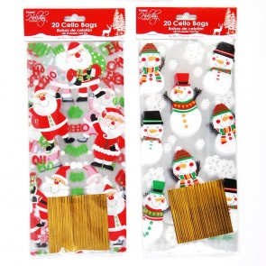 Christmas Cello Bags with Twist-Ties by Holiday Essentials