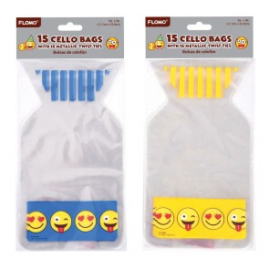 Emoji Die Cut Cello Bags by FLOMO