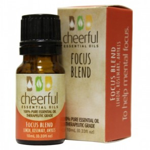 Cheerful Essential Oil 10ml bottle- FOCUS BLEND   by A Cheerful Giver