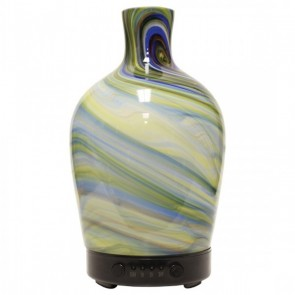 Artesian Glass Ultrasonic Oil Diffuser - SEAGLASS VASE by A Cheerful Giver