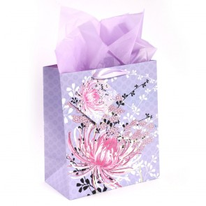 "Grande ""Kimono Floral"" Glitter Large Luxury Gift Bags by iCOLORiS"