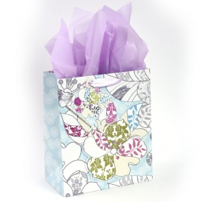 "Grande ""Mixed Florals"" Pop Layer Glitter Large Luxury Gift Bags by iCOLORiS"
