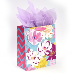 "Grande ""Passion Flower"" Glitter Large Luxury Gift Bags by iCOLORiS"