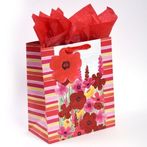 "Grande ""Farmhouse Florals"" Glitter Pop Layer Large Luxury Gift Bags by iCOLORiS"