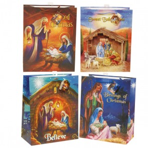 Large Birth of Jesus Gift Bags - Assorted