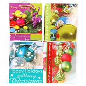 Large Jewel Tone Holiday Gift Bags - Assorted