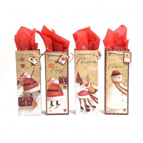 "Christmas ""Holiday Tales"" Bottle Gift Bags by FLOMO"