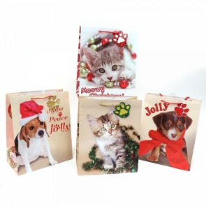 "FLOMO Medium ""Kitty Christmas"" Gift Bags"