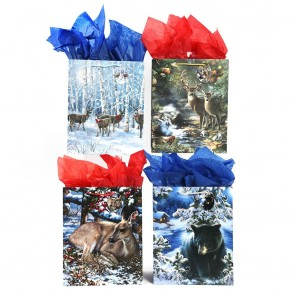 """Large """"Forest Friends"""" Christmas Gift Bags by FLOMO"""