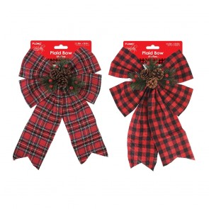 Plaid Christmas Bows by Holiday Essentials