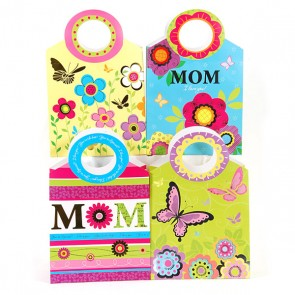 "Medium ""Sophisticated Mom"" Gift Bags with Die Cut Handle"