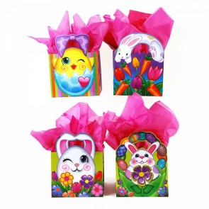 Large Chick and Bunny Egg Hunt Die Cut Gift Bags