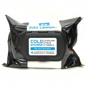 Cold Shower Cooling Field Towels Mens Disposable Wipes by Duke Cannon