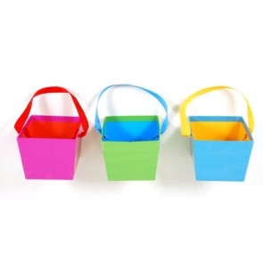 FLOMO Solid Bright Color Cardboard Bucket