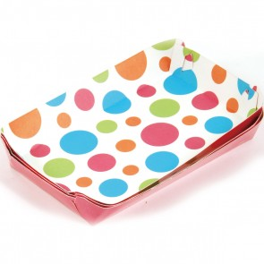 Polka Dot Party Food Trays