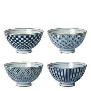 Egawari Rice Bowl Set of 4