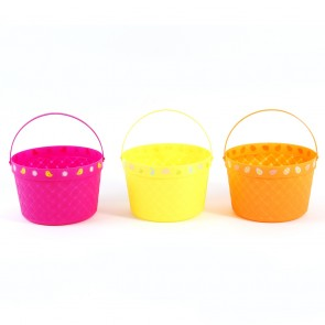 FLOMO Plastic Wicker Easter Basket