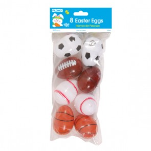 Sports Plastic Easter Eggs - Assorted