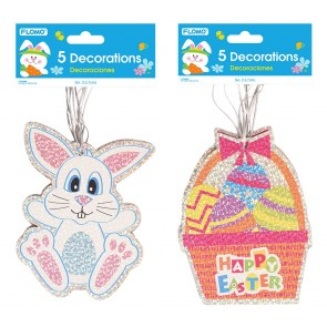 FLOMO Hologram Easter Hanging Cutout Decorations
