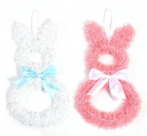 FLOMO Tinsel Easter Bunny Silhouette Decorations