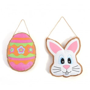 FLOMO Easter Stuffed Burlap Decorations
