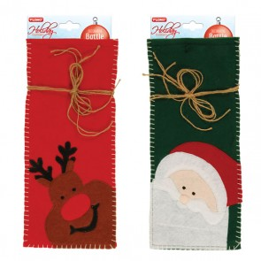 Christmas Icons Felt Bottle Gift Bags