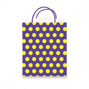 Euro Medium Purple Polka Dots Gift Bag