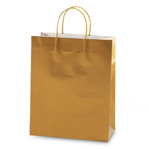 Euro Medium Gold Gift Bag