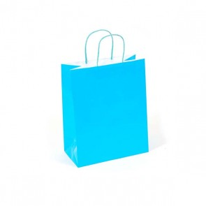 Euro Medium Neon Blue Gift Bag