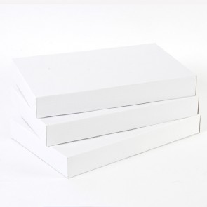 Medium Embossed White Gift Boxes