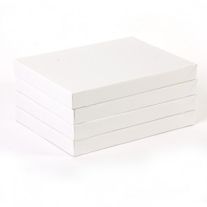Small Embossed White Gift Boxes