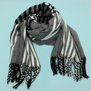 Oversized Stars and Stripes Print Scarf