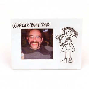 Giftcraft World's Best Dad Photo Frame - Girl