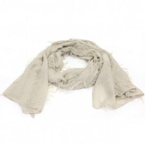 Giftcraft Fringe Polyester Womens Scarf - Tan