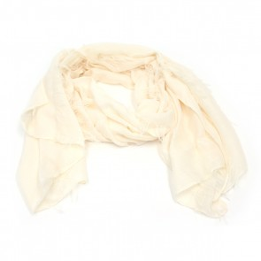 Giftcraft Fringe Polyester Womens Scarf - Cream